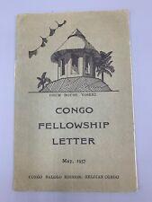 Vintage Congo Balolo Mission Belgian Congo Fellowship Letter 1957
