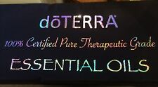 NEW doTerra Essential Oils Black Holographic Tablecloth Trade Show Display LOOK