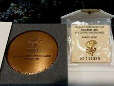 Nagano Japan 1998 Winter Olympics Games Participation Medal & PIN