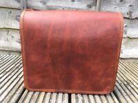 Vintage Women Leather Small Handbag Satchel Messenger Cross Body Shoulder Bag UK