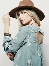Free People Emma Austin Embroidered Mini Dress Tunic Mint Green M $148 Retail