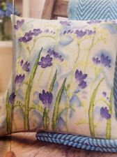 (R) Watercolour Blooms Freesia Flowers Cushion Cover Cross Stitch Chart