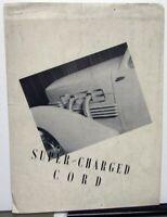 1937 Super-Charged Cord Dealer Sales Brochure Large Folder Original Rare