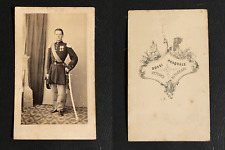 Bossi Pasquale, Italie, Homme décoré en uniforme militaire, circa 1860 CDV vinta