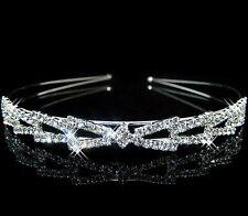 Crystal Rhinestone Headband Wedding Bridal Bride Tiara Hair Band Head Piece Gift