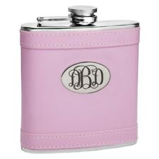 """Personalized """"Pretty in Pink"""" 6 oz Hip Flask"""