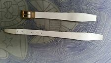 WATCH BAND BRACELET MONTRE CUIR  VERITABLE***  *blanc crème**10mm*******REF.bk14