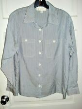 St John Sport by Marie Gray Womens Top Blouse 100% Silk Long Sleeve Size P