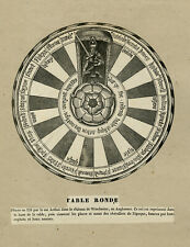 Antique Print-HISTORY-ROUND TABLE-KING ARTHUR-WINCHESTER-Anonymous-ca. 1840