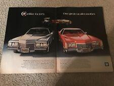 Vintage 1972 CADILLAC SEAN DEVILLE & ELDORADO COUPE Print Ad CARS RARE