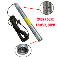 """2"""" (50mm) Submersible Bore 0.5HP Deep Well Water Pump Watering 240V 180FT/55M"""