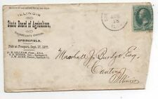 United States used on cover 184 Illinois State Board of Agriculture fancy cancel