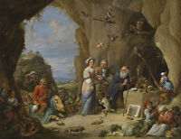 """perfect oil painting handpainted on canvas""""The Temptation of St. Anthony"""" NO5508"""