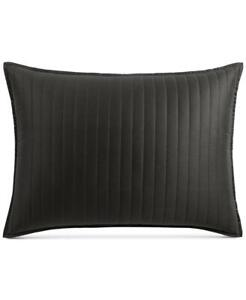 $135.00 Hotel Collection Marble Geo Quilted King Sham, Black