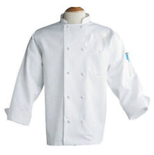 White Chef Coats, Size 4Xl, Knot Buttons, 100% Cotton, Long Sleeves - 403-Iaw