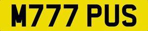 MY PUS PRIVATE NUMBER PLATE M777 PUS CAT JAG JAGUAR PUSSY CAT FUNNY RUDE LAUGH