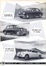 Lancia Appia Aurelia 2nd Series + GT2500 B20 English text brochure c.1951
