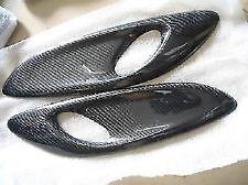 Universal Carbon Fiber Hood Bonnet Fender Scoops Air Duct Vents for BMW Audi #08