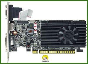 scheda video grafica nvidia geforce GT610 1gb ddr3 pci express hdmi dvi vga per