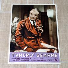 T'AMERò SEMPRE fotobusta poster Camerini Jules Berry Sigaretta Vestaglia U7
