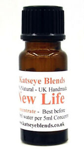 New Life Essential Oil Water Soluble Concentrate x 10ml 100% Natural