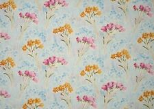 2.5 metre PINK TULIPS and DAFFODIL Flowers Floral Cotton Quilt Fabric