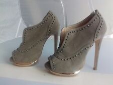 "NEXT Size 3 khaki brown studded peep toe 5"" shoes, worn twice"