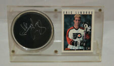 Eric Lindros Signed Puck And Card