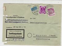 German 1952 Bochum Cancel Obligatory Tax Aid for Berlin Stamps Cover Ref 26790