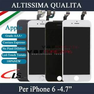 SCHERMO PER IPHONE 6 DISPLAY ASSEMBLATO COMPLETO LCD TIANMA CON Button Camera