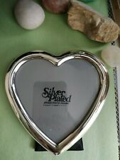 vintage silverplated brass heart picture frame made in Korea