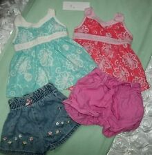Sleeveless Floral Tops Jean Shorts Old Navy Children's Place Pink Lot 18-24 M