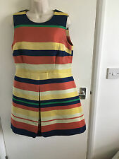 BNWT LADIES JAEGER STRIPPED DRESS SIZE 14 RRP £450.00