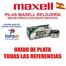 PILAS MAXELL TODAS REFERENCIAS OXIDO DE PLATA 315 317 362 364 377 371 373 399