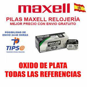 PILA MAXELL TODAS REFERENCIAS OXIDO DE PLATA 315 317 362 364 377 371 373 399