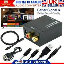 UK 3.5mm Coax Digital to Analog Audio Converter Adapter Jack RCA + Optical Cable