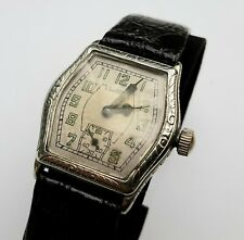 """Illinois 1920s """"Mate"""" Wristwatch in White Gold-filled Case"""