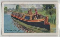 Canal Barge Commercial Transport Ship Craft 85+ Y/O Trade Ad Card