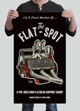 The Flat-Spot Vinyl Banner Hot Rod V8 Motor Ford 1932 Garage Decor Jeff Norwell