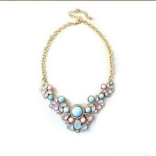 Bohemian Gemstone Choker Necklace Charm Statement Pendant Necklaces Gift D
