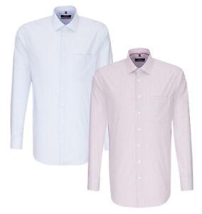 Seidensticker Herren Langarm Business Hemd Modern blau rot weiß Gestreift 117556