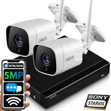 More details for zxtech 5mp super hd ip66 two-way audio tf slot camera outdoor wifi cctv system
