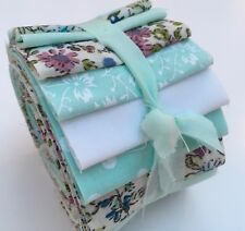24 Poly Cotton Fabric Jelly Roll Strips MINT FLORAL 2.5inch by 44inch