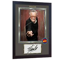 Stan Lee signed MARVEL COMICS Spider Man film Autographed photo print Framed