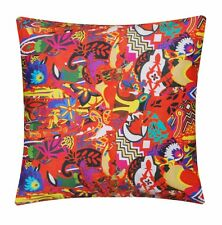 Vibrant Abstract Egyptian Print 100% Twill Cotton Cushion Cover for Sofa Bed