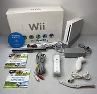Nintendo Wii Sports White Console Video Game System Complete in Box TESTED!