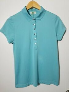 1 NWT XDS BY DAILY SPORTS WOMEN'S POLO, SIZE: MEDIUM, COLOR: LIGHT BLUE (J149)