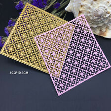 Square Lace Clover Metal Cutting Dies Stencil Scrapbooking Card Embossing Craft
