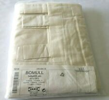 """NOS IKEA BOMULL Beige One Curtain Panel 100% Unbleached Cotton 57"""" x 89"""" Tab Top"""