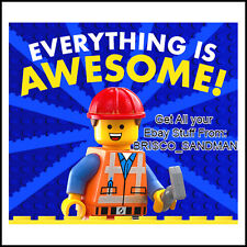 """Fridge Fun Refrigerator Magnet LEGO MOVIE """"EVERYTHING IS AWESOME!"""" Version: A"""
